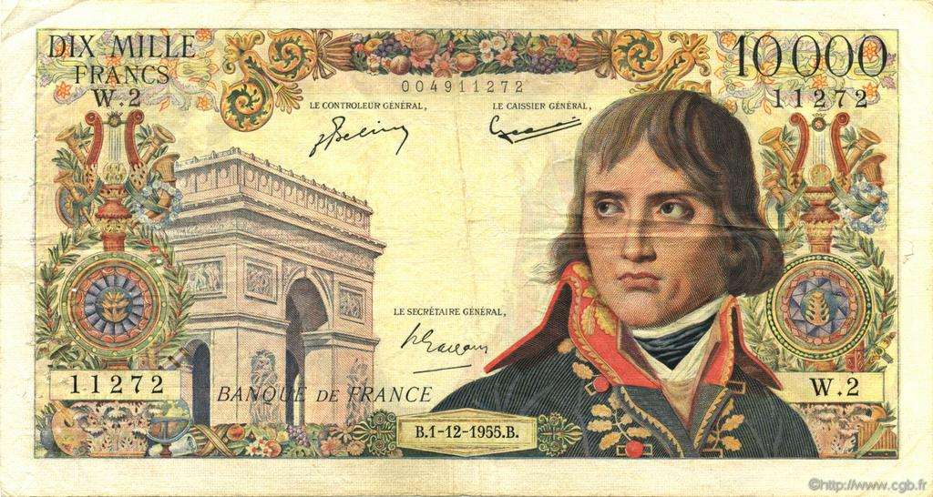 10000 Francs BONAPARTE FRANCE  1955 F.51.01 TB+