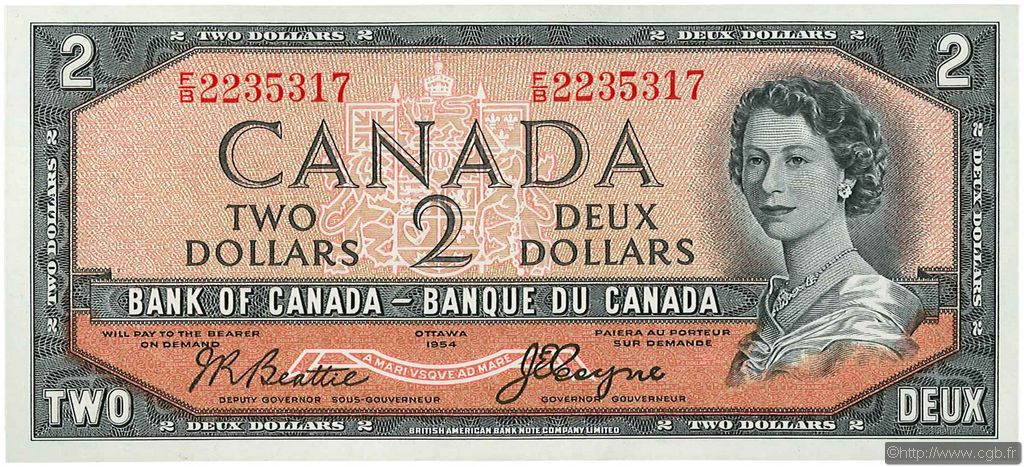 billet de 2 dollars valeur