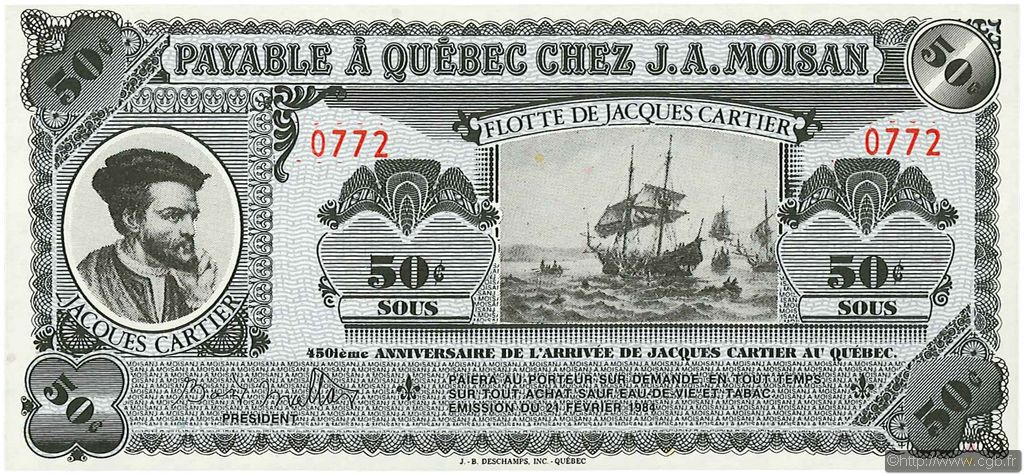 50 Sous CANADA  1984 P.- NEUF