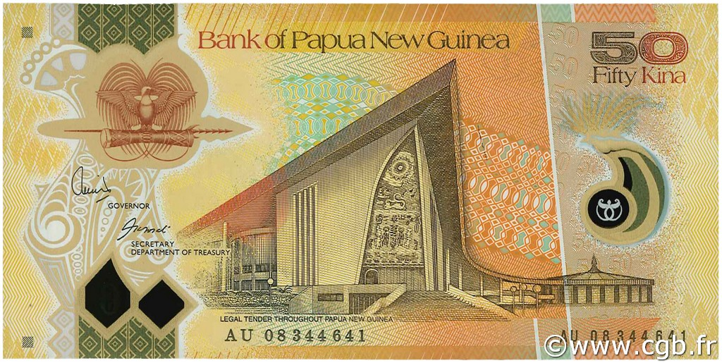 50 Kina PAPOUASIE NOUVELLE GUINÉE  2008 P.32 NEUF