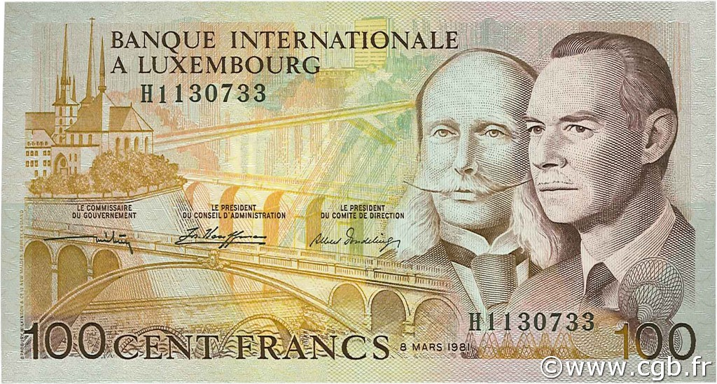 100 Francs LUXEMBOURG  1981 P.14A NEUF