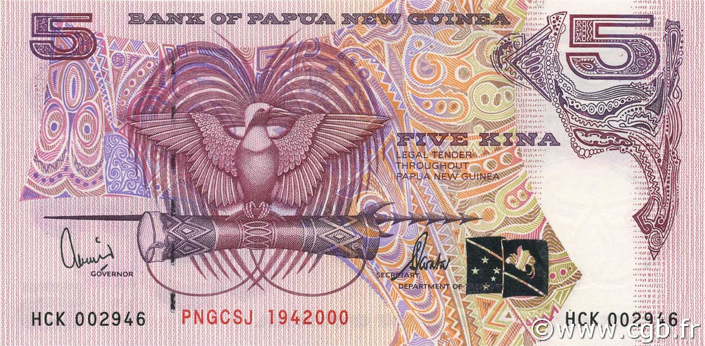 5 Kina PAPOUASIE NOUVELLE GUINÉE  2000 P.20 NEUF
