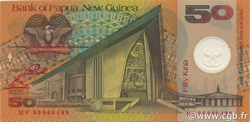 50 Kina PAPOUASIE NOUVELLE GUINÉE  1999 P.18a NEUF