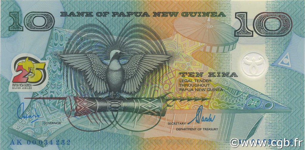 10 Kina PAPOUASIE NOUVELLE GUINÉE  2000 P.23 NEUF
