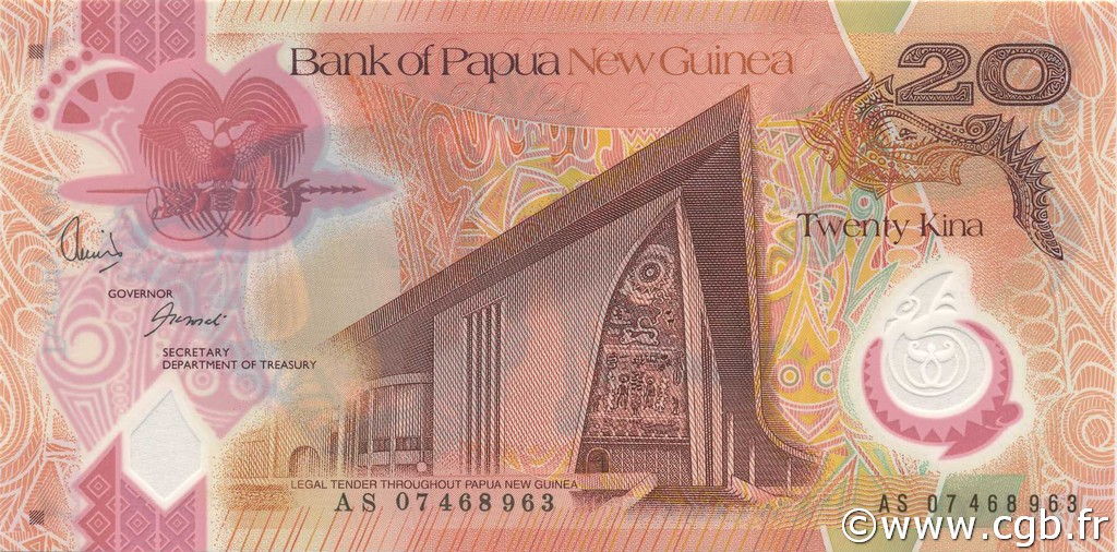 20 Kina PAPOUASIE NOUVELLE GUINÉE  2007 P.31 NEUF