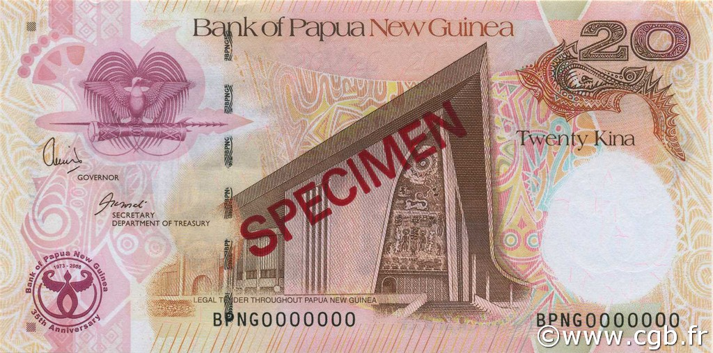 20 Kina PAPOUASIE NOUVELLE GUINÉE  2008 P.36s NEUF