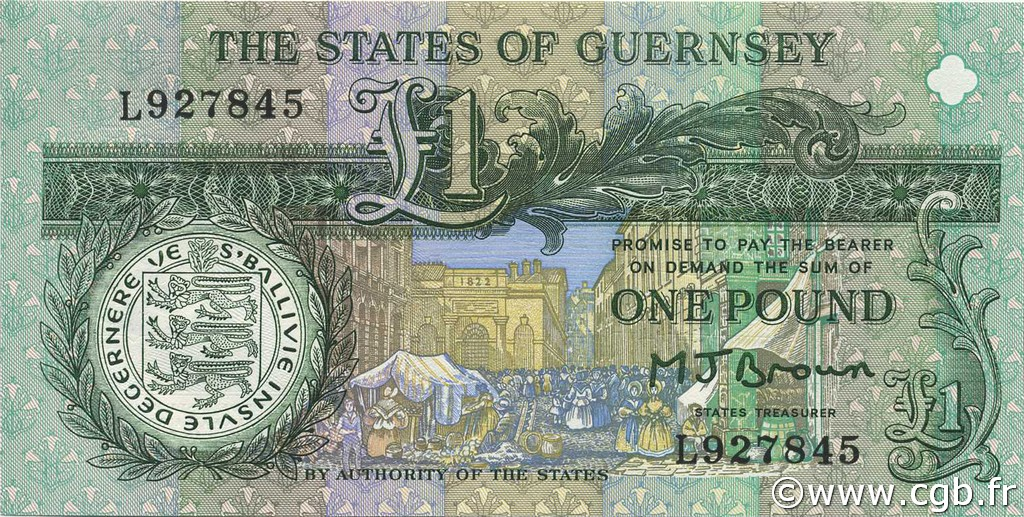 1 Pound GUERNESEY  1991 P.52a NEUF
