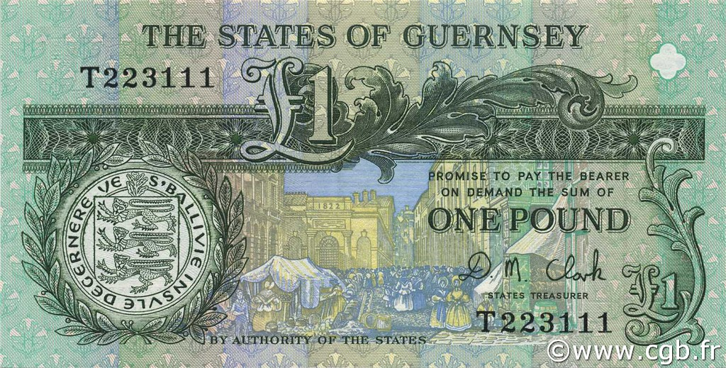 1 Pound GUERNESEY  1991 P.52c NEUF