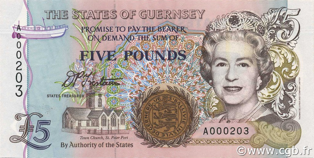 5 Pounds GUERNESEY  1996 P.56a NEUF