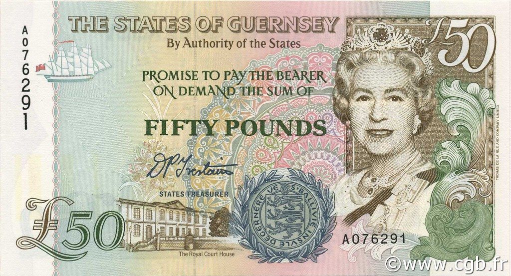 50 Pounds GUERNESEY  1994 P.59 NEUF