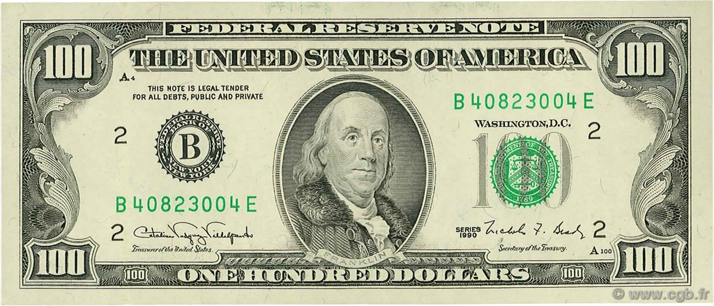 United States one hundreddollar bill  Wikipedia
