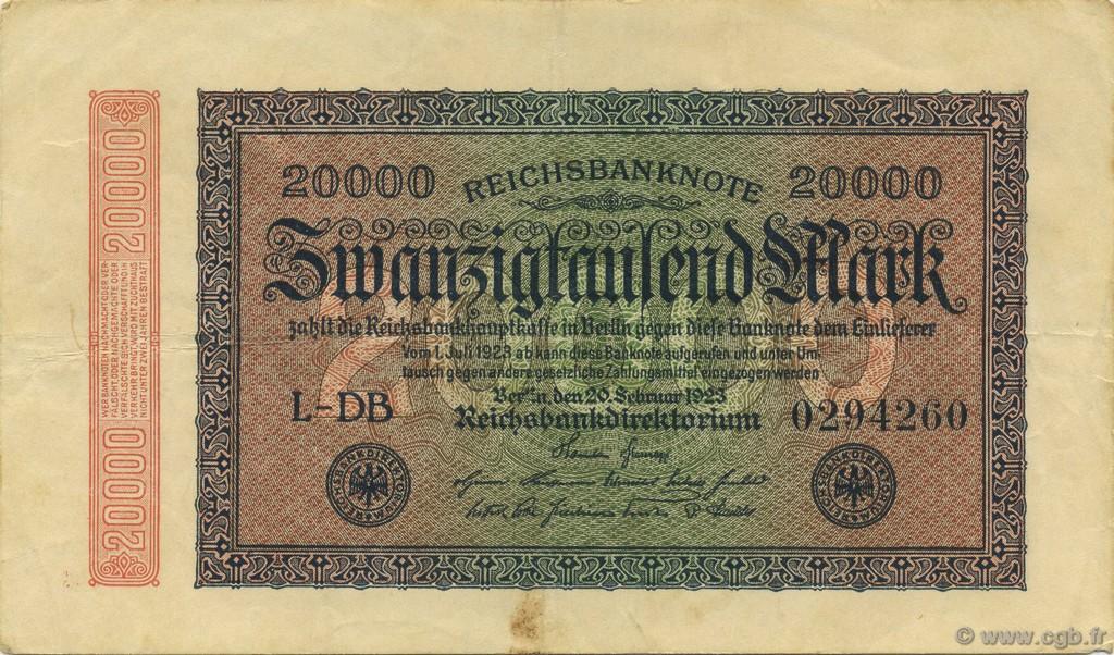 billet de banque allemand 1923