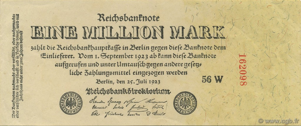 1 Million Mark ALLEMAGNE  1923 P.094