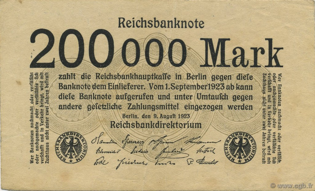 200000 Mark ALLEMAGNE  1923 P.100 SUP