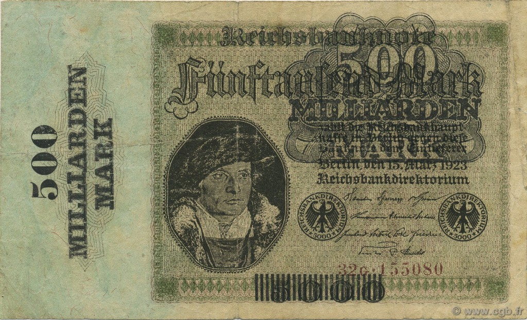 500 Milliard Mark ALLEMAGNE  1923 P.124a TB+