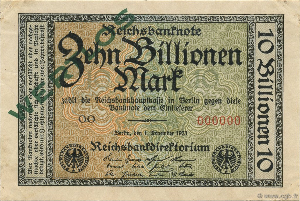 10 Billions Mark ALLEMAGNE  1923 P.132as SUP+