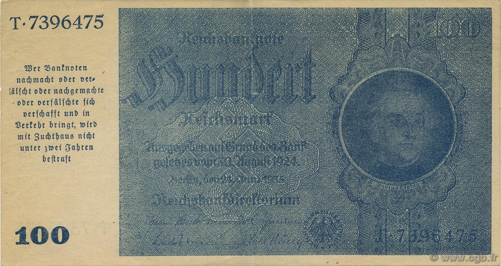 100 Reichsmark ALLEMAGNE  1945 P.190a SUP