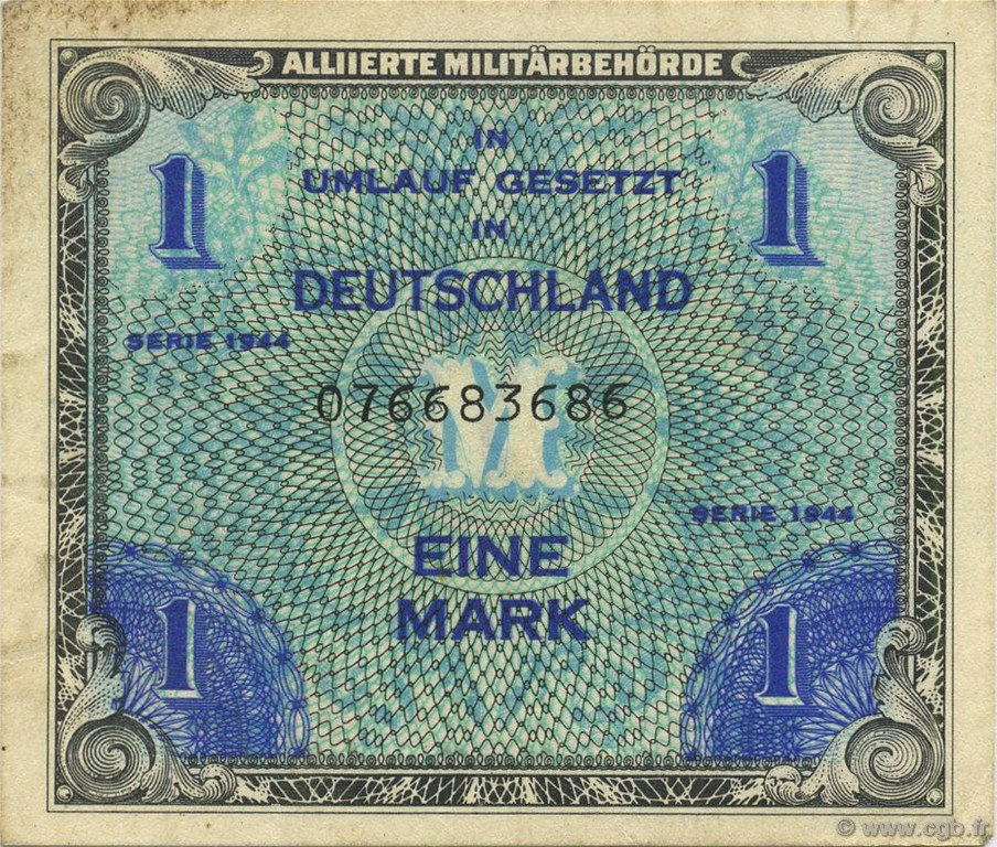 1 Mark ALLEMAGNE  1944 P.192a SUP
