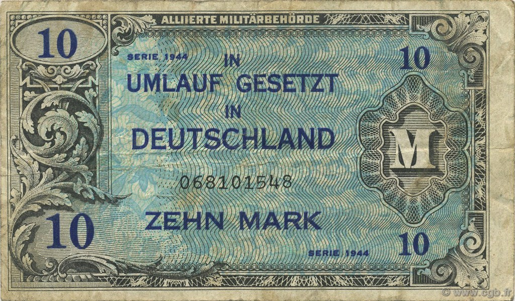 10 Mark ALLEMAGNE  1944 P.194a