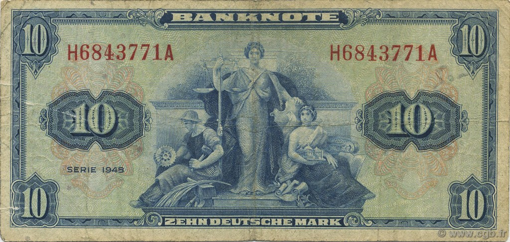 10 Mark ALLEMAGNE  1948 P.005a TB
