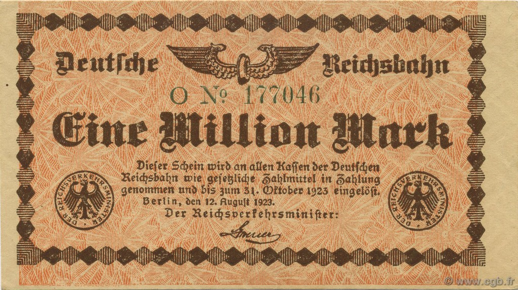 1 Million Mark ALLEMAGNE  1923 PS.1011 SUP