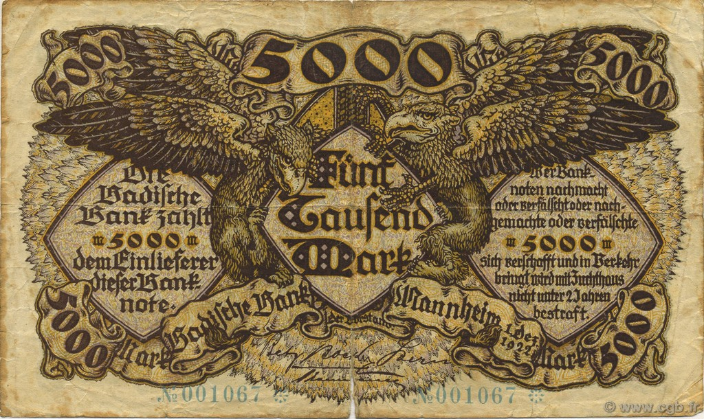 5000 Mark ALLEMAGNE  1922 PS.0909 TB