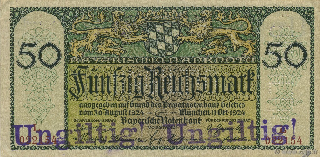 50 Reichsmark ALLEMAGNE  1924 PS.0941 SUP