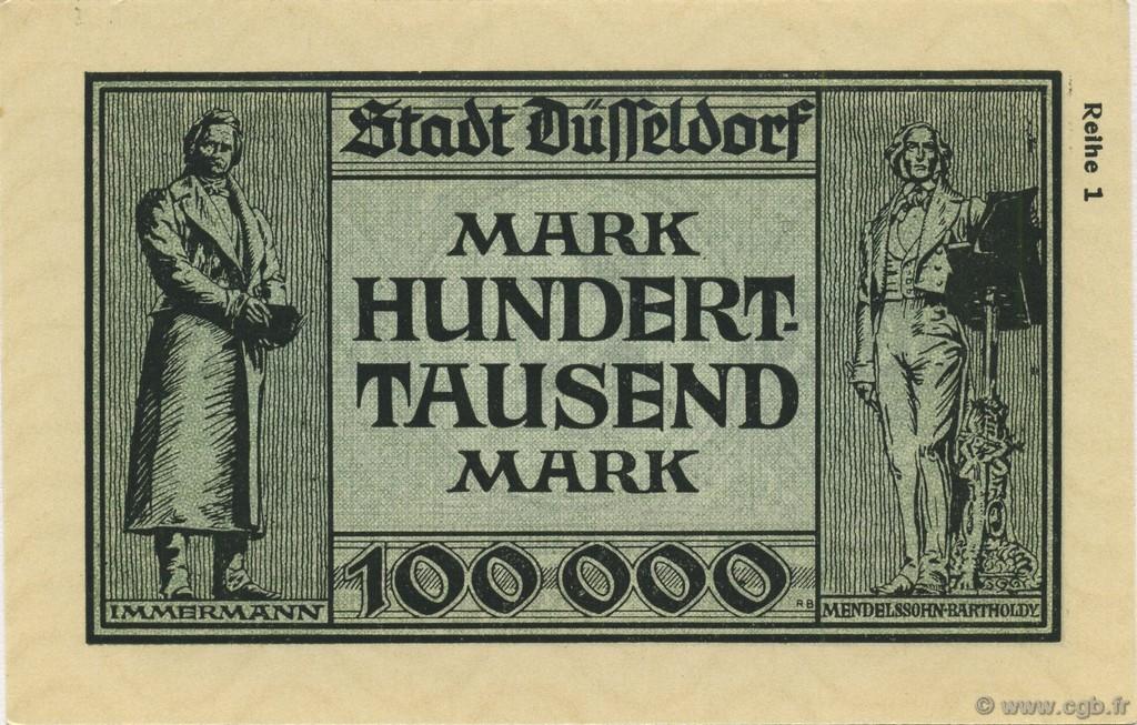 100000 mark allemagne d sseldorf 1923 b61 2642 billets. Black Bedroom Furniture Sets. Home Design Ideas