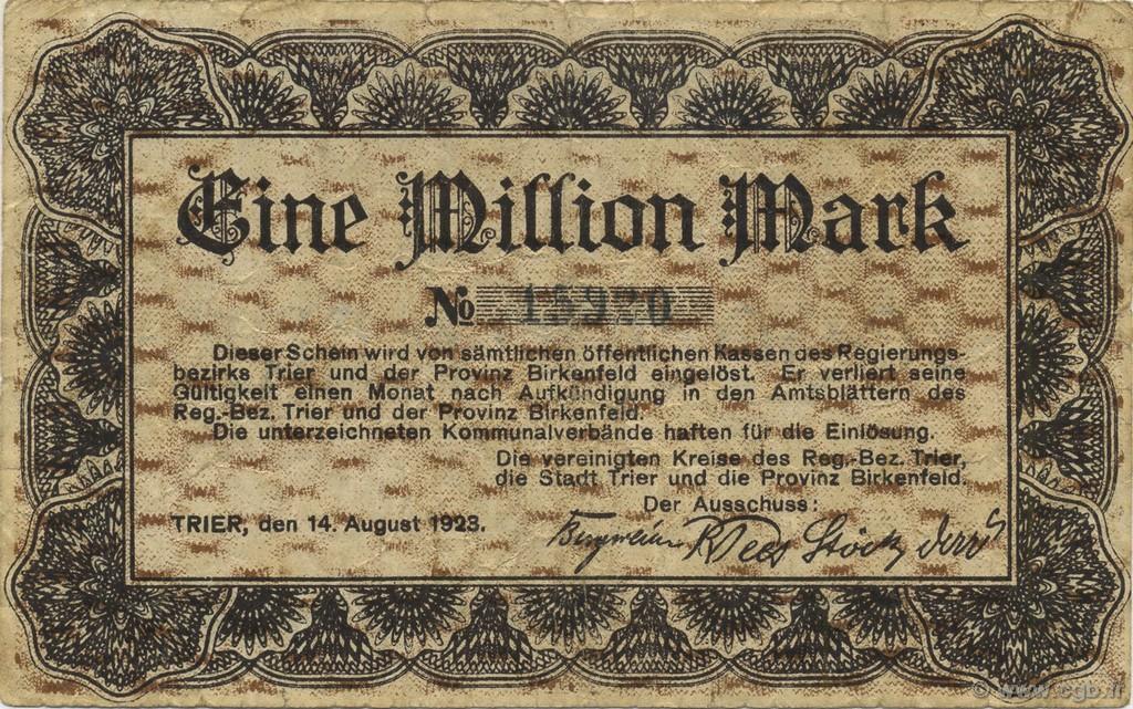 1 million mark germany trier tr ves 1923 b61 3070 banknotes. Black Bedroom Furniture Sets. Home Design Ideas