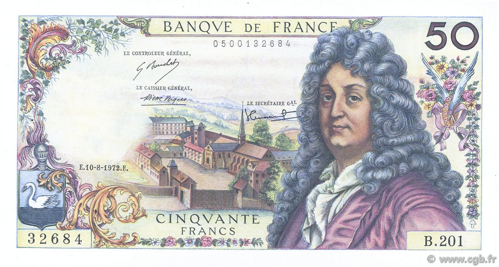 50 Francs RACINE FRANCE  1972 F.64.21 SUP à SPL