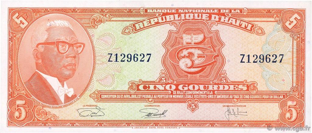 billet de banque haiti