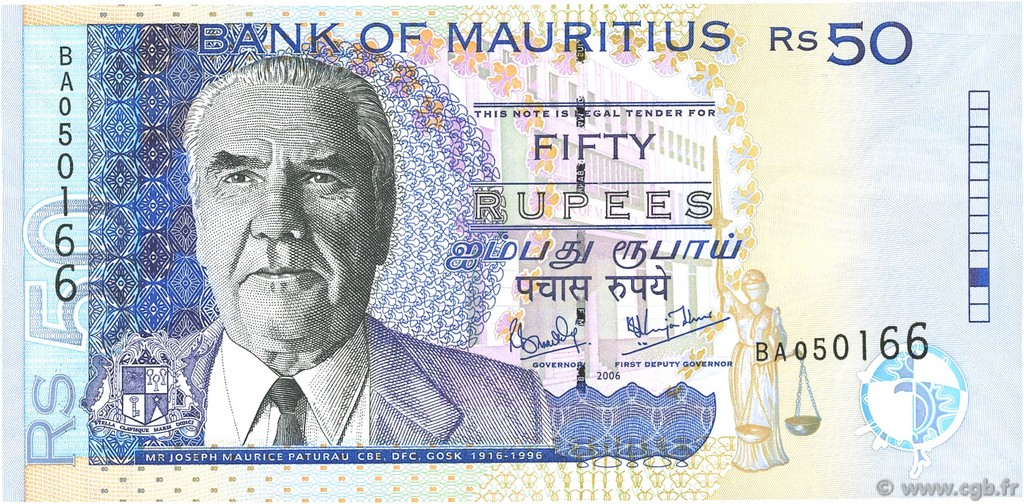 50 Rupees ÎLE MAURICE  2006 P.50d NEUF