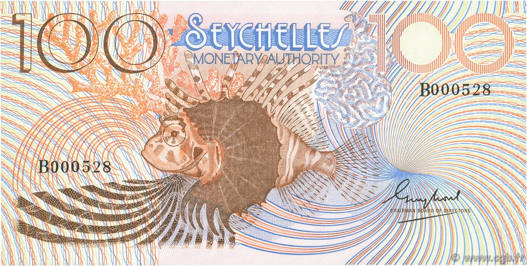 100 Rupees SEYCHELLES  1980 P.27a NEUF