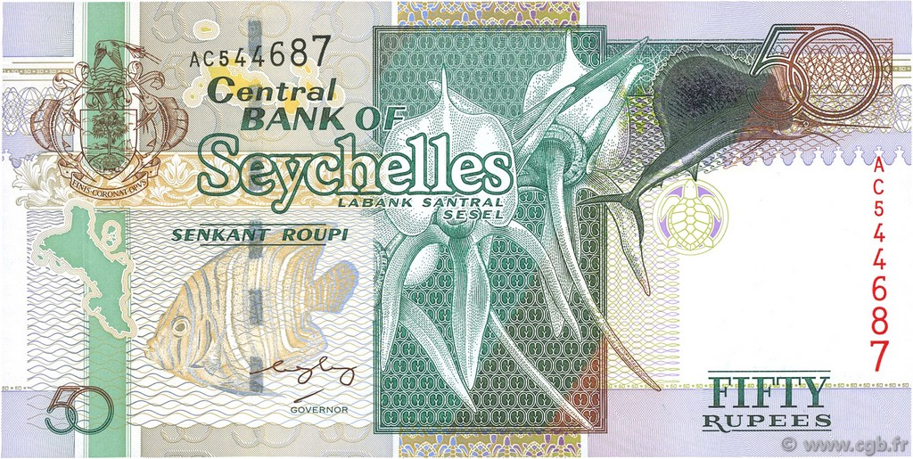 50 Rupees SEYCHELLES  2004 P.39A NEUF