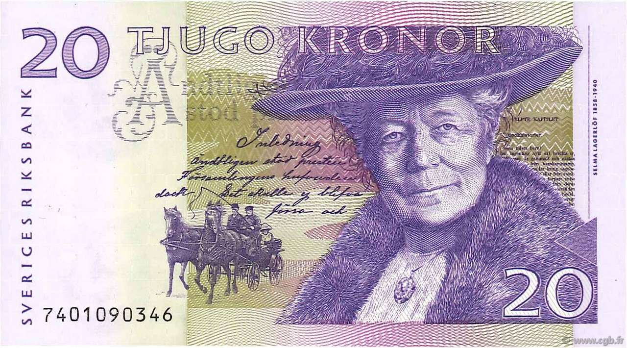 20 Kronor SUÈDE  1997 P.63a NEUF