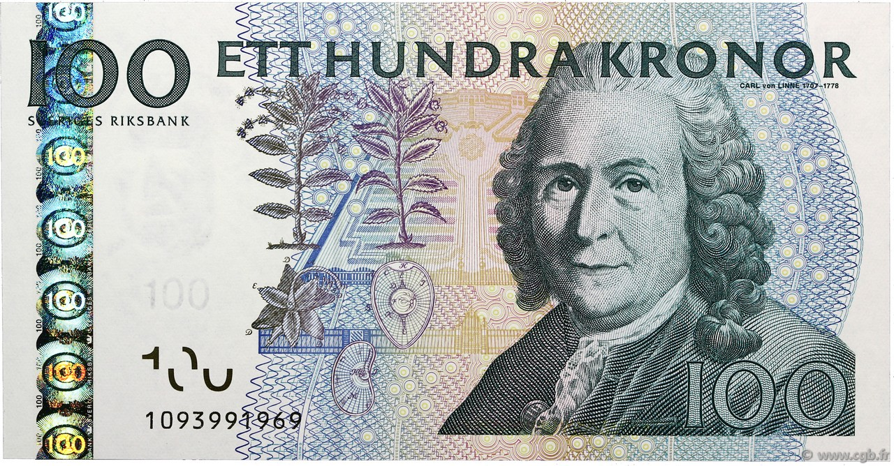100 Kronor  SUÈDE  2001 P.65a NEUF