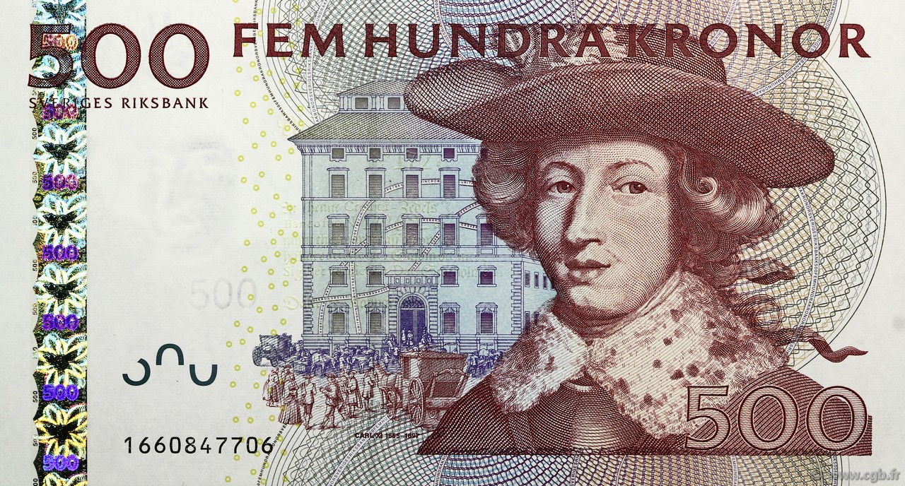 500 Kronor SUÈDE  2001 P.66a NEUF