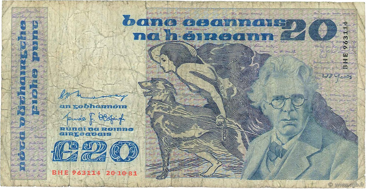 20 Pounds IRLANDE  1981 P.073a AB