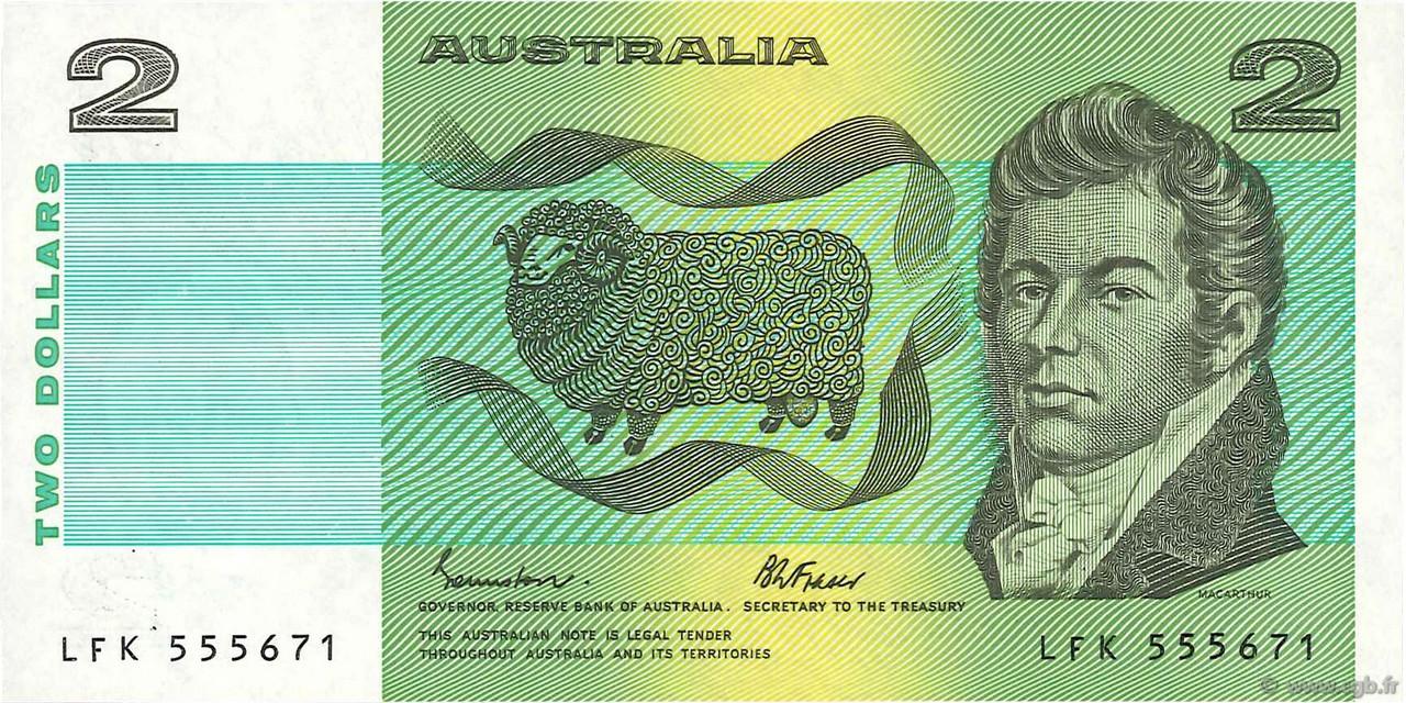 2 dollars australie 1985 b71 0228 billets. Black Bedroom Furniture Sets. Home Design Ideas
