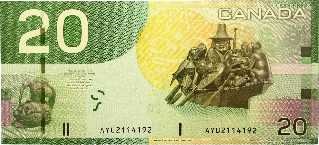 Канада / 25 долларов / km# 745