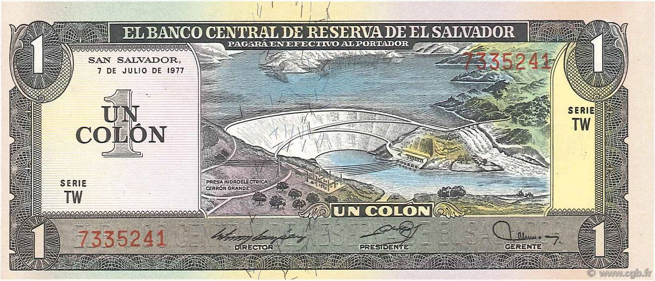 1 Colon SALVADOR  1977 P.125a NEUF