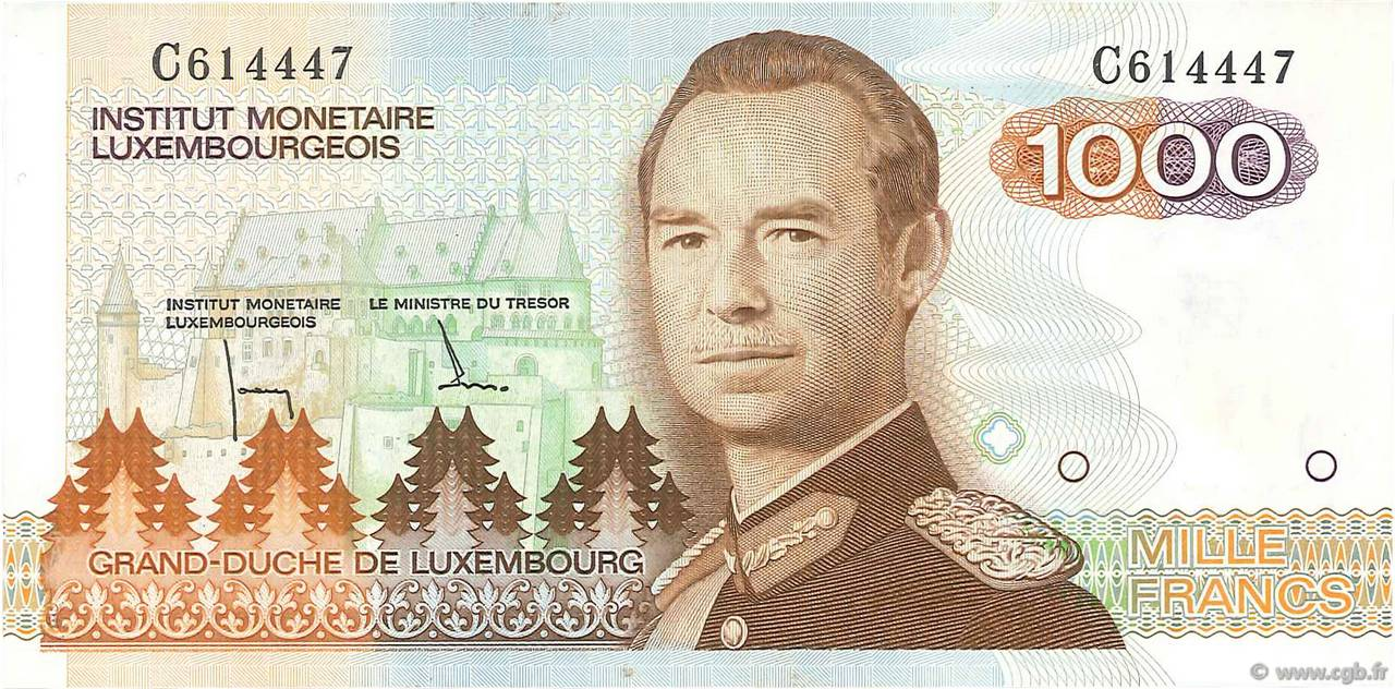 1000 Francs LUXEMBOURG  1985 P.59a pr.NEUF