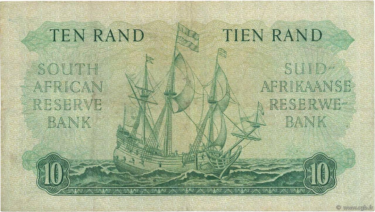 10 rand afrique du sud 1962 p 106b ttb b76 0544 billets