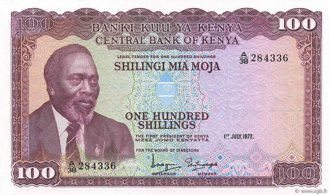 KENYA 100 Shillings P-23f UNC Banknote 1988