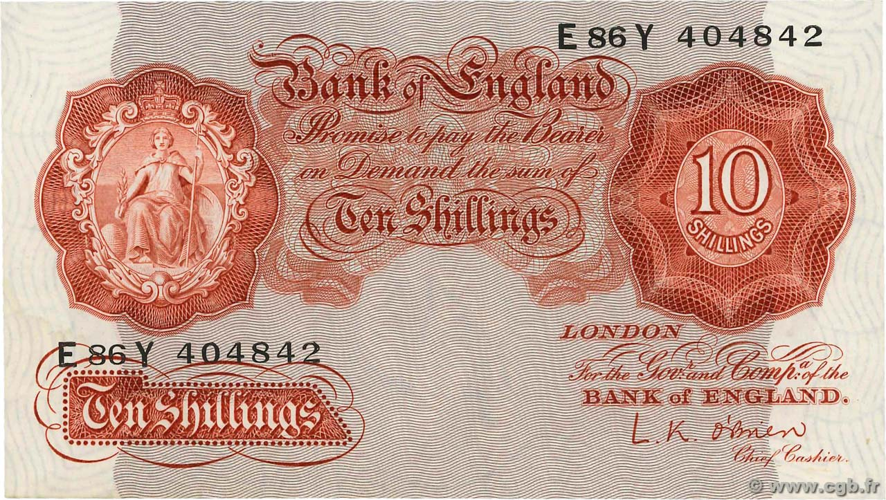 10 Shillings ANGLETERRE  1948 P.368a SUP