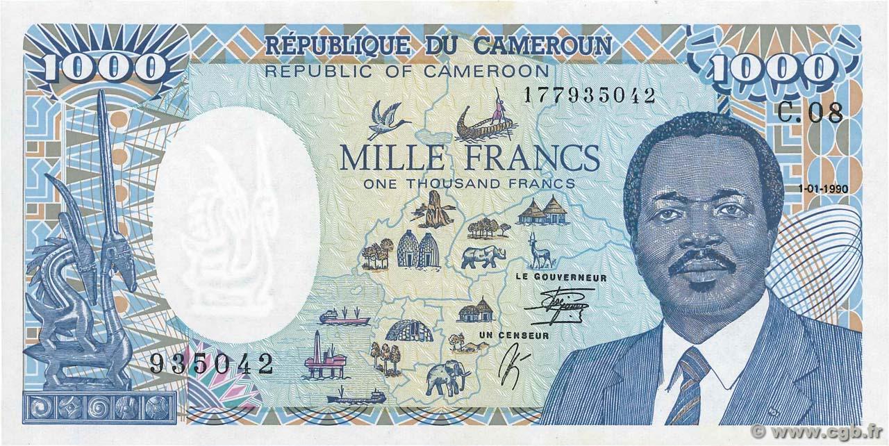 CAMEROON 1000 1,000 FRANCS 1990 P 26b UNC CAMEROUN