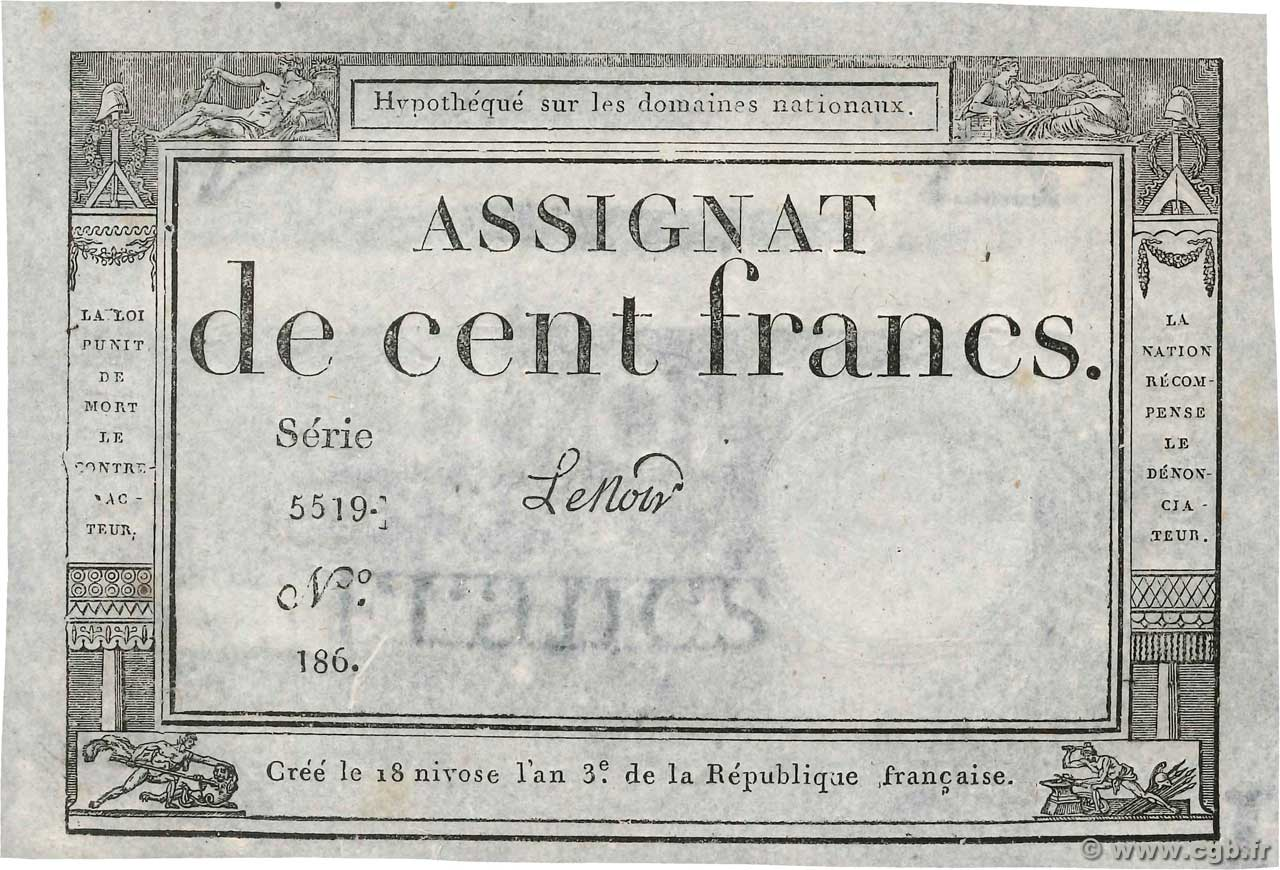 100 Francs  FRANCE  1795 Ass.48a SPL
