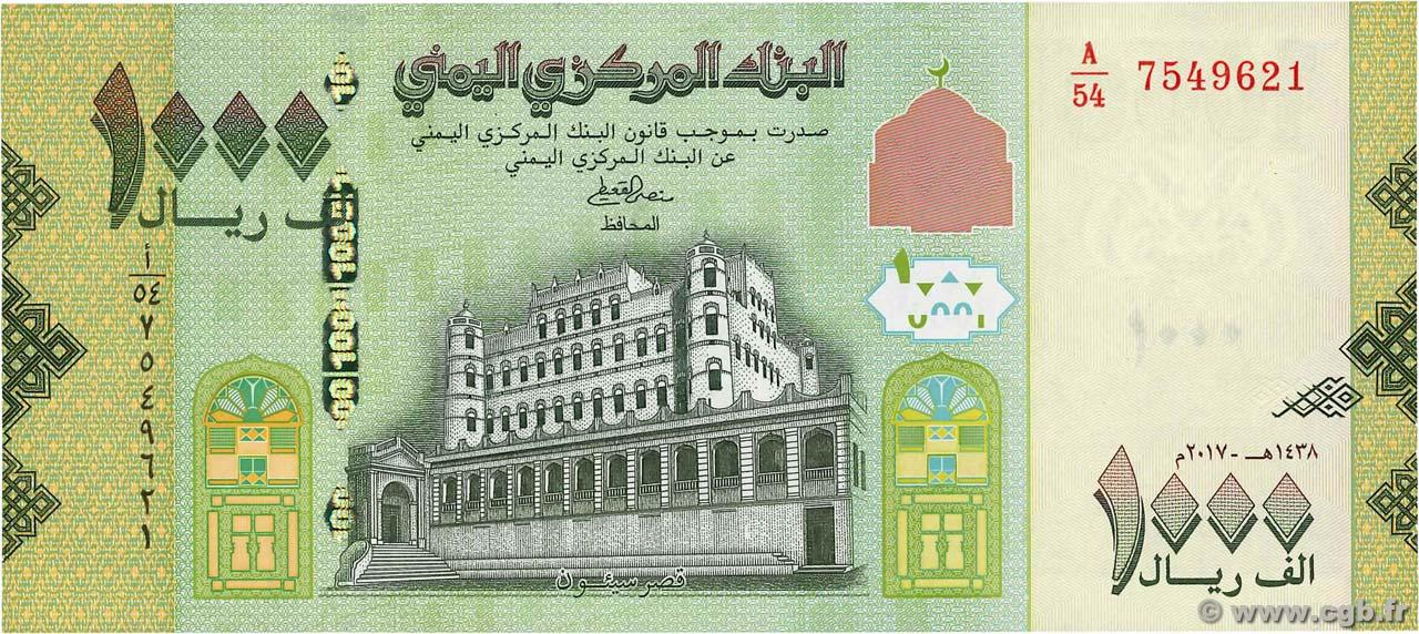 1 2017 2018 Yemen 1000 Rials p-40 UNC Banknote