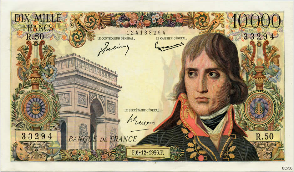 10000 Francs BONAPARTE FRANCE  1956 F.51.06 SUP+