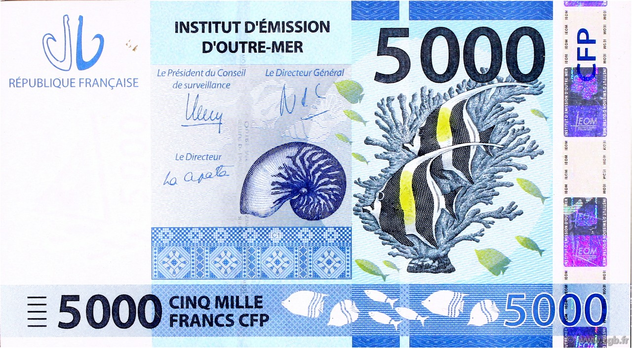 5000 Francs CFP POLYNÉSIE, TERRITOIRES D OUTRE MER  2014 P.New NEUF